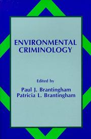 Cover of: Environmental Criminology