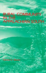 Cover of: Rural community in the Appalachian South