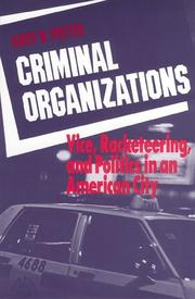 Cover of: Criminal organizations | Gary W. Potter