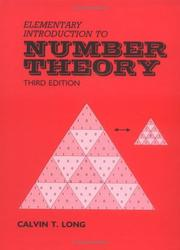 Cover of: Elementary introduction to number theory
