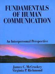 Cover of: Fundamentals of human communication