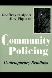 Cover of: Community policing |