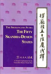 Cover of: Shurangama sutra, the fifty skandha-demon states | Hsuan Hua