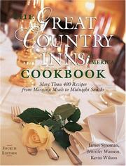 Cover of: The Great Country Inns of America Cookbook | James Stroman