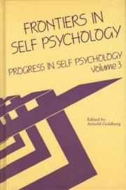 Cover of: Frontiers in Self Psychology