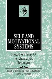 Cover of: Self and motivational systems