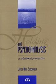 Cover of: Holding and psychoanalysis