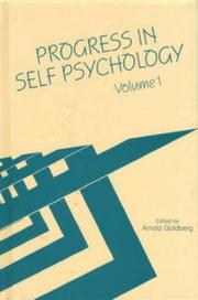 Cover of: Progress in Self Psychology, V.1 (Progress in Self Psychology)