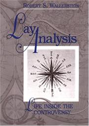 Cover of: Lay analysis