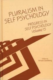 Cover of: Pluralism in Self Psychology