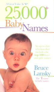 Cover of: 25,000+ baby names