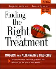 Cover of: Finding the Right Treatment: Modern and Alternative Medicine | Jacqueline Krohn