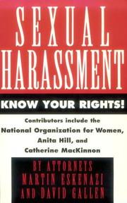 Cover of: Sexual Harassment | Eskenazi & Gallen