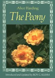 Cover of: The peony | Alice Harding