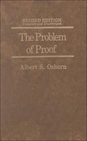 Cover of: The problem of proof