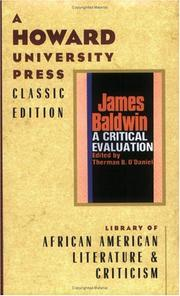 Cover of: James Baldwin