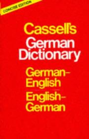 Cover of: Cassell's German Dictionary | H. C. Sasse