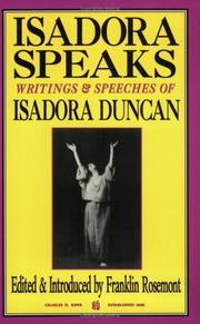 Cover of: Isadora speaks: writings & speeches of Isadora Duncan
