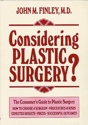 Considering Plastic Surgery by John M. Finley