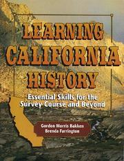 Cover of: Learning California history