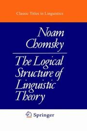Cover of: The logical structure of linguistic theory