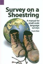 Cover of: Survey on a shoestring | Frank Blair