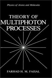 Cover of: Theory of multiphoton processes