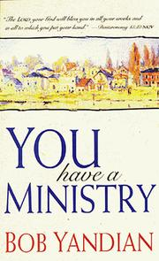 Cover of: You Have a Ministry