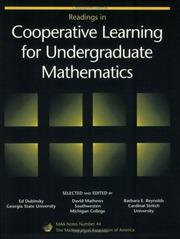 Cover of: Readings in cooperative learning for undergraduate mathematics |