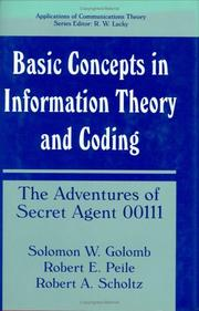 Cover of: Basic concepts in information theory and coding | Solomon W. Golomb