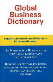 Cover of: Global business dictionary | Morry Sofer