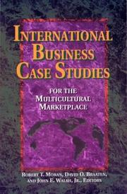 Cover of: International business case studies for the multicultural marketplace by