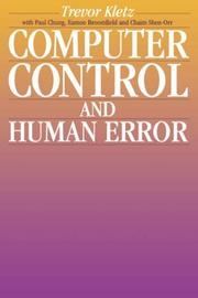 Cover of: Computer control and human error