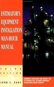 Estimators Equipment Installation Man-Hour Manual, Third Edition (Estimators Man-Hour Library)