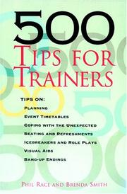 Cover of: 500 tips for trainers