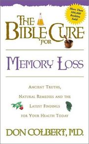 Cover of: The Bible cure for memory loss
