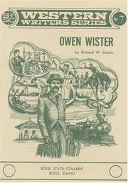 Cover of: Owen Wister