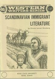 Cover of: Scandinavian immigrant literature | Christer Lennart Mossberg