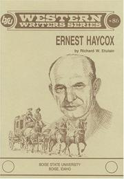Cover of: Ernest Haycox | Richard W. Etulain