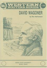 Cover of: David Wagoner