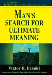 Cover of: Man's search for ultimate meaning