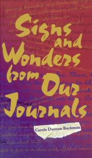 Cover of: Signs and wonders from our journals