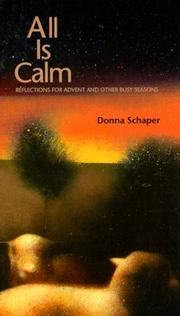 Cover of: All is calm