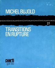 Cover of: Transitions en rupture