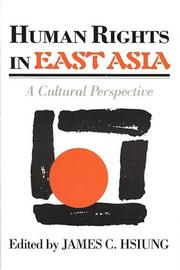 Cover of: Human rights in East Asia |