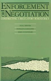 Cover of: Enforcement or negotiation | Neal Shover