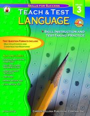 Cover of: Teach & Test Language Grade 3 | Sally Fisk