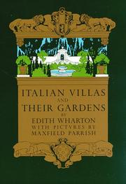 Cover of: Italian villas and their gardens
