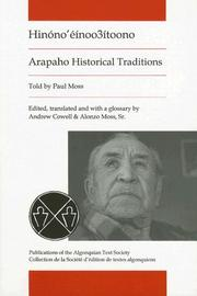 Cover of: Arapaho Historical Traditions, As Told by Paul Moss |