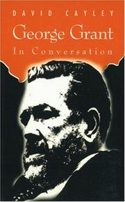 Cover of: George Grant in Conversation